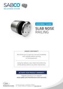 Sadev Assembly Guide 000110 Sadev Slab Nose Glass Railing