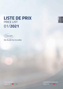 colcom 2021 pricelist tarif