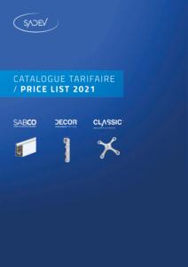 sadev 2021 price list tarif