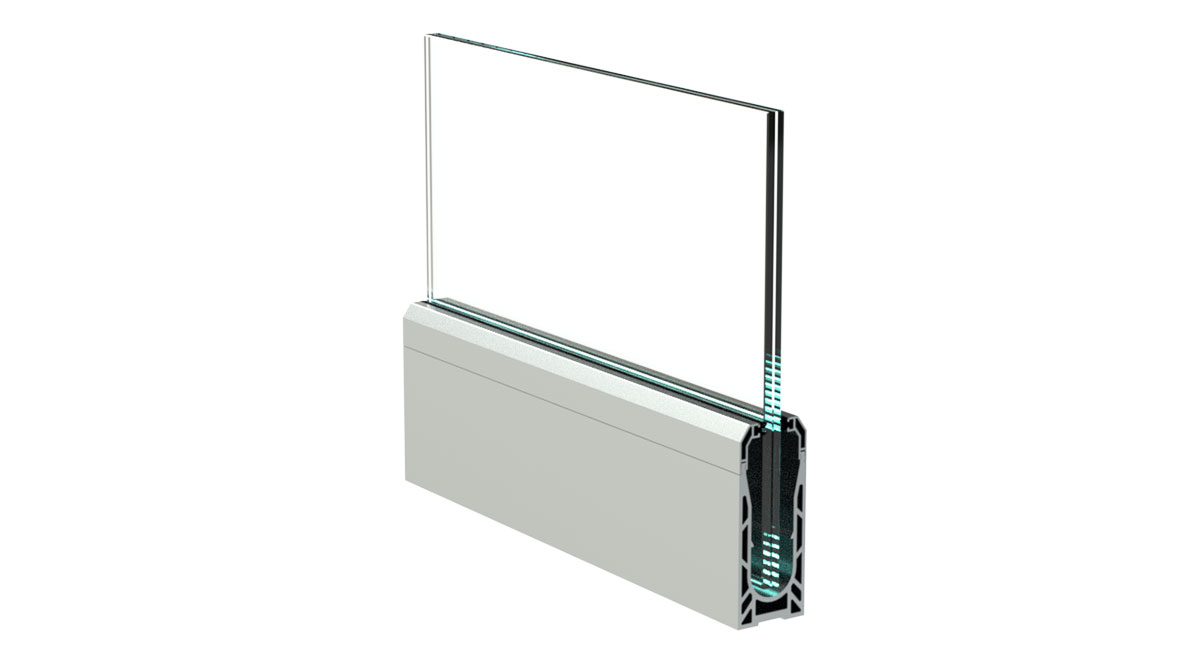 sadev swimside rail cloture de piscine en verre