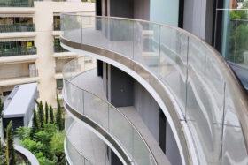 sadev sabco garde corps cintre verre tour girofle monaco glass curved balustrade monaco girofle tower 1