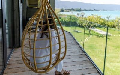 SABCO glass railing in a French hotel, Villa Caroline